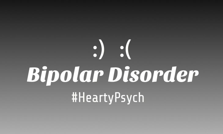 Banner carrying bipolar disorder as text