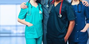 Nurses with stethoscope