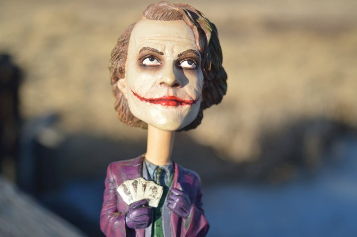 The movie Dark Knight's Joker doll