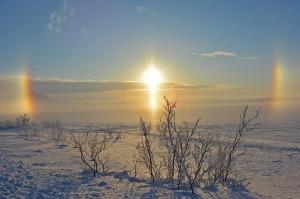 sun with hallo