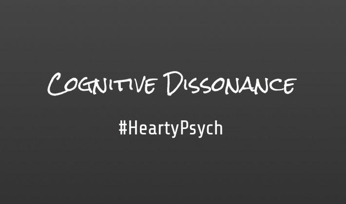 Cognitive Dissonance written on black background